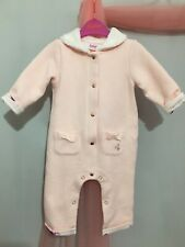 Baby Girls Designer Ted Baker Pink Quilted Lined Romper Suit 6-9m🎀