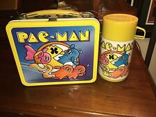 1980 ALADDIN PAC-MAN LUNCHBOX WITH THERMOS W/ ORIGINAL PRICE STICKER, NEVER USED