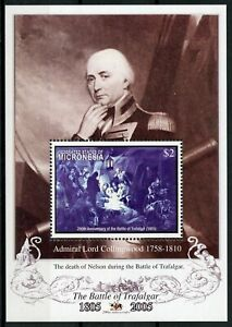 Micronesia Ships Stamps 2005 MNH Battle of Trafalgar Nelson Collingwood 1v S/S