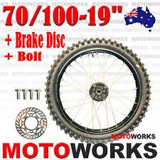 "70 / 100 - 19"" Inch Front Wheel + Disc Bolt 250cc 150cc Dirt Pit PRO Trail Bike"