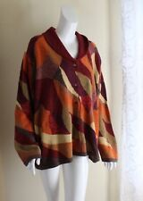 NWT Sigrid Olsen -Sz 3X Autumnal Lux Silk Art-to-Wear Amazing Cardigan Sweater