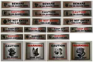 Self Adhesive Weatherproof Information Sign Durable Quality Pet Dog Warning Sign