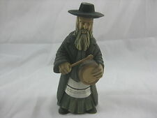 Wooden Carved Jewish Religious Man With Drum