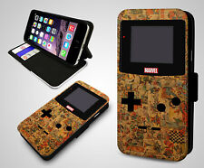 Retro Gaming Marvel Comics Nintendo Game Boy New Wallet Leather Phone Case Cover