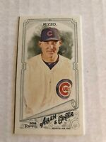 2018 Allen & Ginter Anthony Rizzo Rip Card Mini SSP 363 Cubs Exclusive