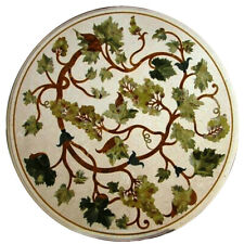 """18""""x18"""" Beautiful Home Decor Design Marble Inlay Table Top"""