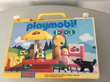 1995#VINTAGE Playmobil 123 SET 6603 Market stall with building board#NIB