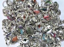 First Deal !! Mix Gemstone 925 sterling silver overlay 20pcs Rings wholesale Lot