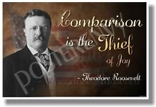 Comparison is the Thief of Joy - Roosevelt - New Classroom Motivational Poster