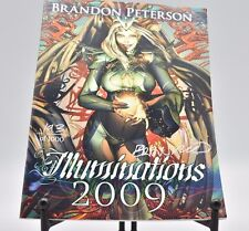 (Signed copy) Illuminations 2009 Brandon Peterson Art Sketch Book #193 of 1000 Comic Art