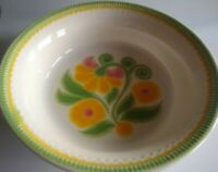 """Franciscan Earthenware 9"""" Round l Vegetable Bowl.  MAYPOLE 69-73. Made in USA"""
