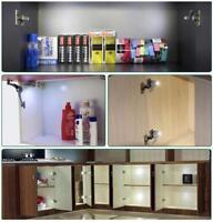 Cabinet Hinge LED Auto Sensor Light Wardrobe Cupboard Home Closet Drawer Light