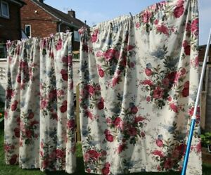 Lovely Dorma floral double duvet cover 2 pillowcases and matching curtains