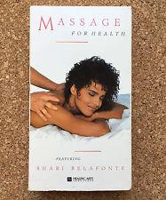 Massage for Health VHS Tape Videocassette 1998 • Shari Belafonte • Healing Arts