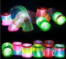 Glow in Dark Walking Rainbow Spring Toy Circle Slinky Magic Circle Stretchy New