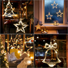 Christmas Hanging LED String Light Fairy Party Outdoor Props Suction Cup