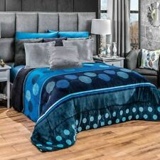Blue swirls and circles Comforter Luxury Bedding Blanket with sherpa King/Queen