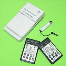 Accessory 2x 1050mAh Battery+Home Charger+Pen for MetroPCS LG LG 450 MS450 Phone