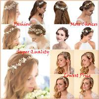 Bridal Wedding Headbands Pearl Flower Barrette Rhinestone Hair Comb Accessories