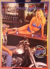 Vintage Beer Poster Advertising Ad 24 x 17 Miller Lite Time Biker Bar Model