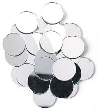 100 Mirrors - 3/4 inch Round Glass Mirrors Mosaic Tiles Deco Art. Free shipping!