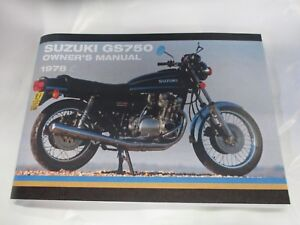 Suzuki GS750 owners manual  1978  GS750C