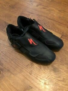 Specialized Mens US 11.5 Training Shoes EUR 44.5 Black Red Cycling Strap