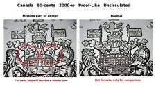 Missing part of design error Coat of Arms 2001-p PL Uncirculated 50-cent
