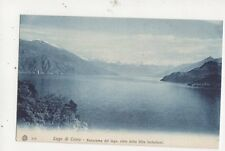 Lago Di Como Panorama Del Lago Dalla Villa Serbelloni Postcard Italy 523a
