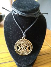 Moon And Pentagram Necklace BNIP Gold coloured.