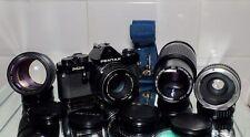 Pentax MX Super Camera + Pentax SMC 50mm F.2Lens. + 135mm F2.8 , Cosina 80-200mm