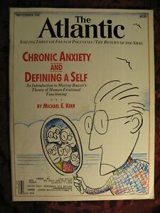 ATLANTIC magazine September 1988 Michael E Kerr Benjamin Demott Charles Baxter