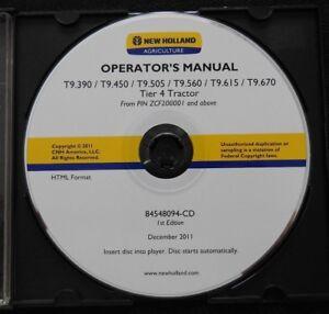 NEW HOLLAND T9.390 T9.450 T9.505 T9.560 T9.615 T9.670 TRACTOR OPERATORS MANUAL