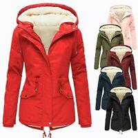 Womens Fur Hooded Jacket Coats Ladies Outerwear Winter Parka Overcoat Warm C998
