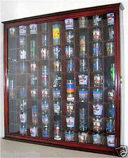 71 Shot Glass Display Case Wall Cabinet Shadow Box,  Mahogany Finish, SC08-MAH