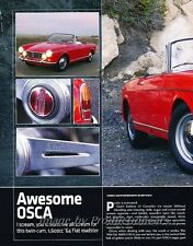 1964 Fiat OSCA 1600S Spider Original Car Review Report Print Article J831
