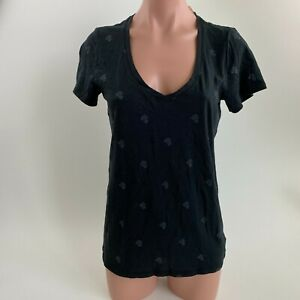 Victoria's Secret PINK Short Sleeve Scoop Neck T-Shirt w/ Logo  Black Size S NWT