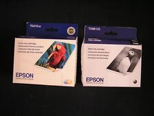 Lot of 2 Epson CX3200 Ink BLACK T040120 exp 5/2020 and T041020 COLOR exp 11/2010