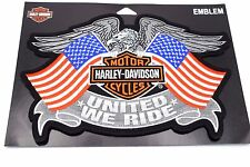 Genuine Harley Davidson American Flag United We Ride Emblem Patch EM125844