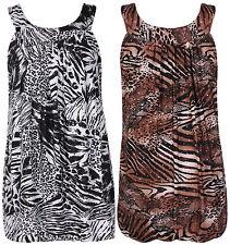 Women's Sleeveless Scoop Neck Casual Tunic, Kaftan Tops & Shirts