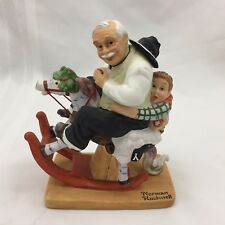 1980 The Danbury Mint-12 Norman Rockwell Porcelain Figurines-Gramps At The Reins