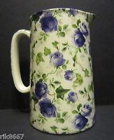 Heron Cross Pottery Ivy ROSE (BLUE) Chintz English 1 Pint Milk Jug