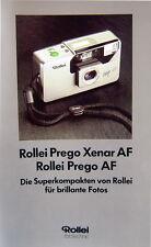 Rollei Prego Xenar AF Rollei Prego AF Prospekt brochure - (0388)