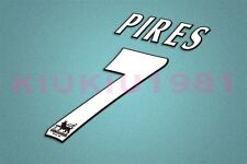 Arsenal Pires #7 PREMIER LEAGUE 97-06 White Name/Number Set