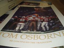 NEBRASKA HUSKERS Bob Devaney Tom Osborne Autographed Prints 24X35 matching set