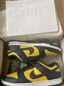 Size 9.5 - Nike Dunk Low 2021 Michigan USED
