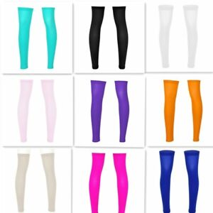 Mens Thigh Socks Stocking High Full Leg Sport Sleeve Footless Knee Brace Calf