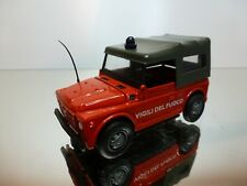 OLD CARS FIAT CAMPAGNOLA - VIGILI DEL FUOCO - FIRE ENGINE - RED 1:43 - VERY GOOD