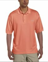 Columbia Men's PFG Perfect Cast UV Protection Polo Shirt Orange Small MSRP $40