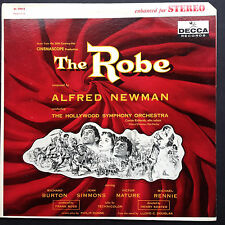 Superb art! Alfred Newman THE ROBE film soundtrack OST LP 1953 Burton Simmons US